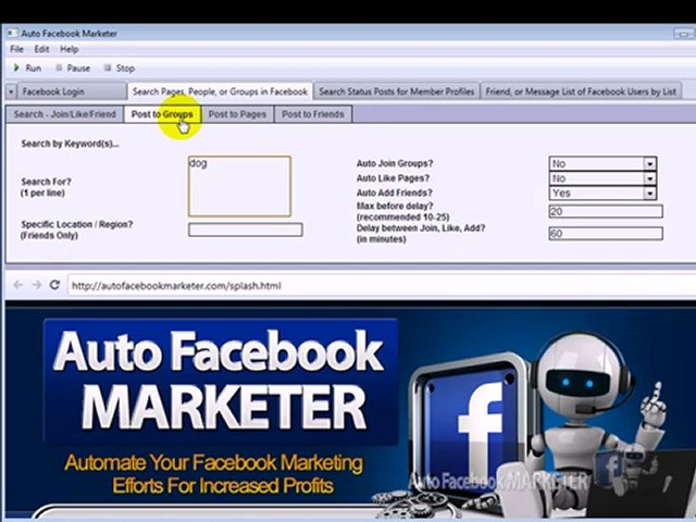 Auto FB Marketer 3.02 Software