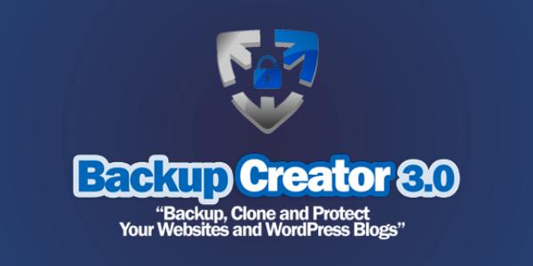 Backup Creator WordPress Plugin Free