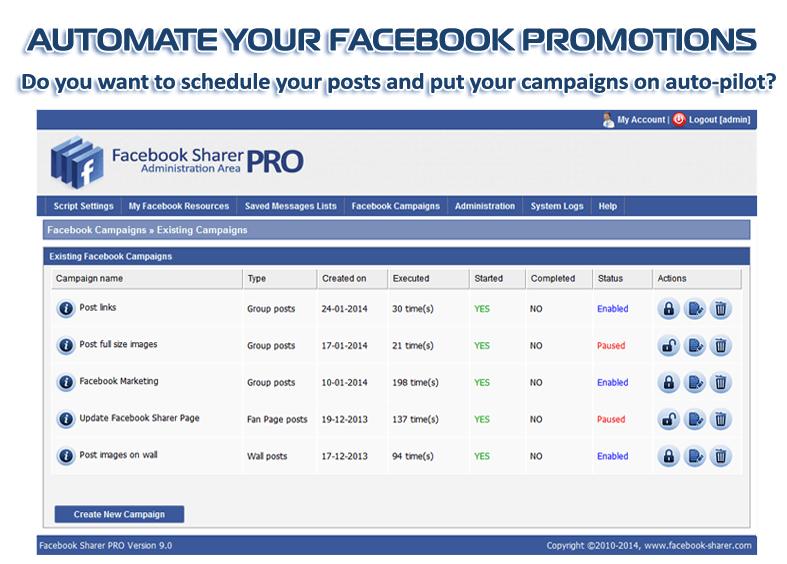Download Facebook Sharer Pro 5.0 Software Free