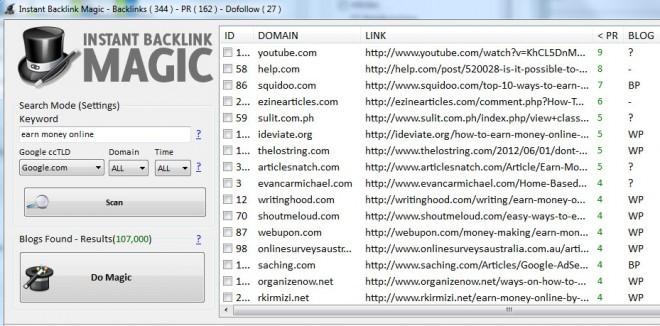 Download Instant Backlink Magic 2.1e Software Free