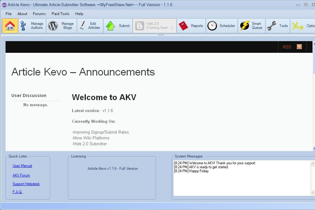 Free Article Kevo 1.7