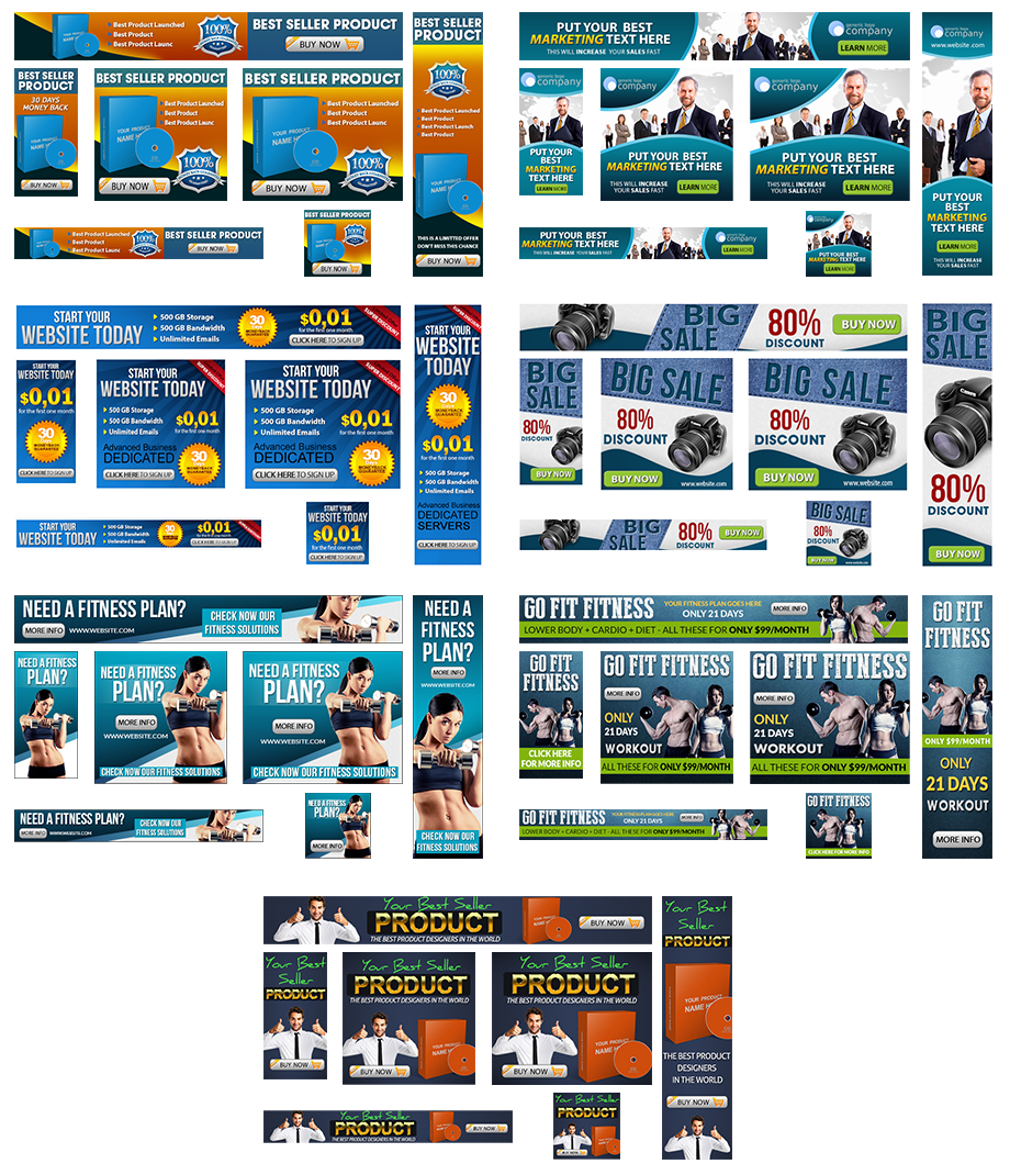 Banner Ads Template Collection Free