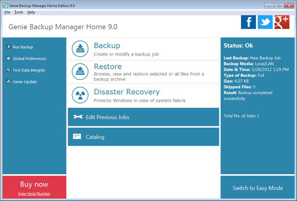 Genie Backup Manager Home 9 Software Free