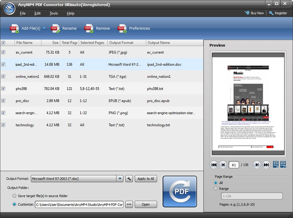AnyMP4 PDF Converter Ultimate