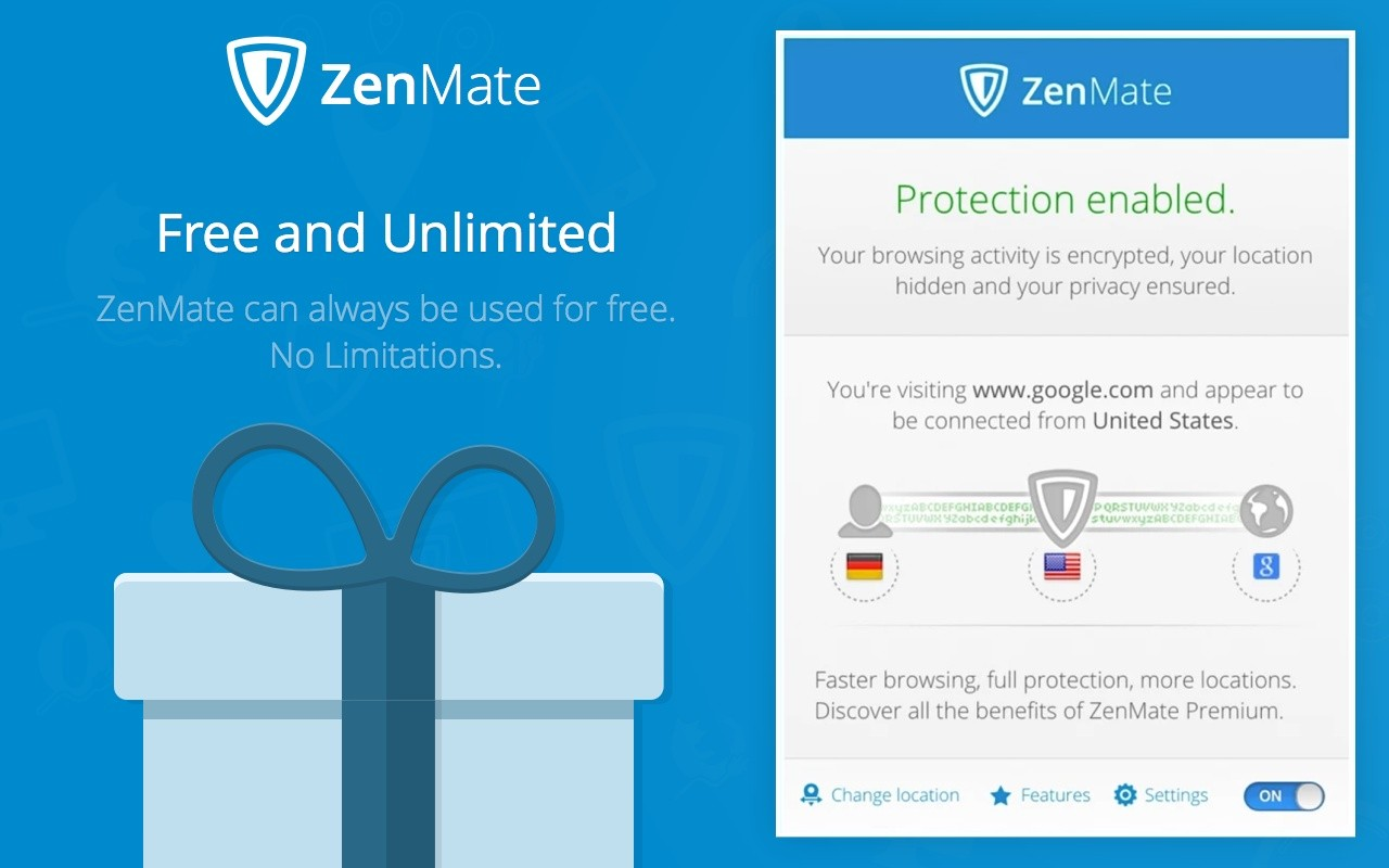 Download CRX for Chrome ZenMate 5.4.9 Extention Free