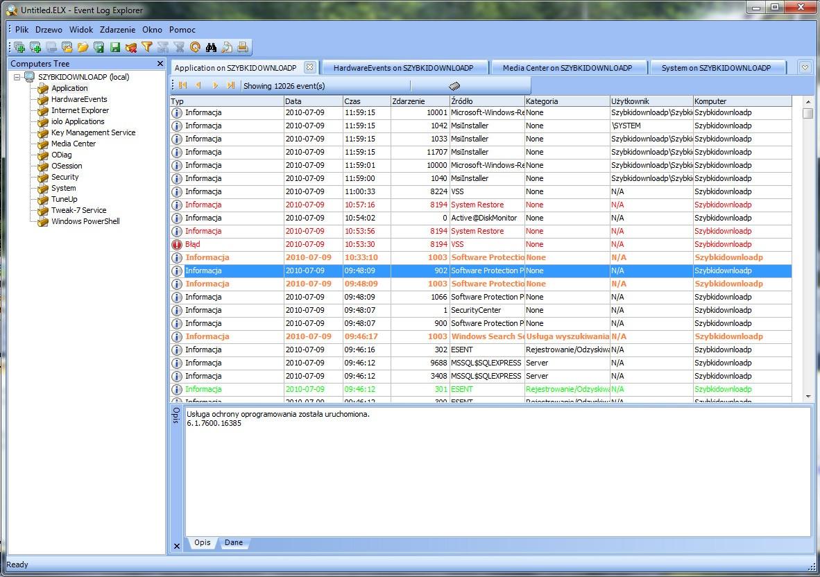 Download Event Log Explorer 4.5.3 Software Free