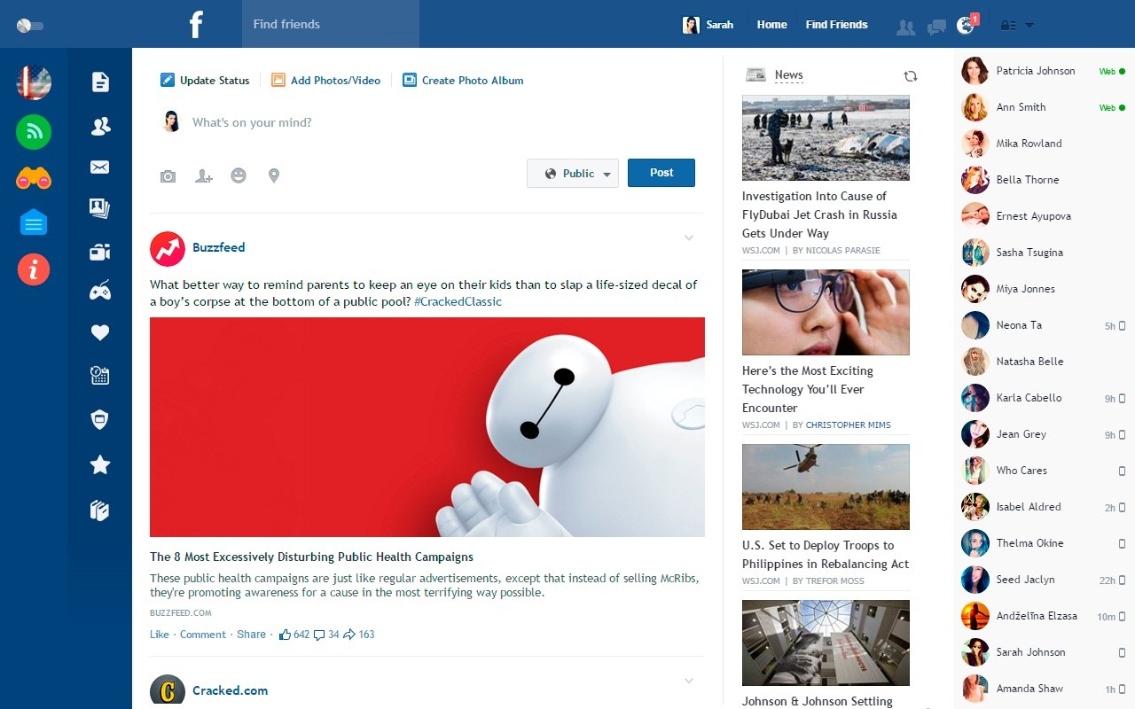 Download Facebook Flat Extension CRX for Chrome