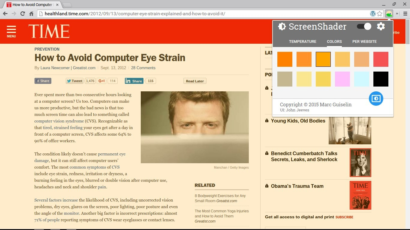 Download Screen Shader Extension CRX for Chrome Free