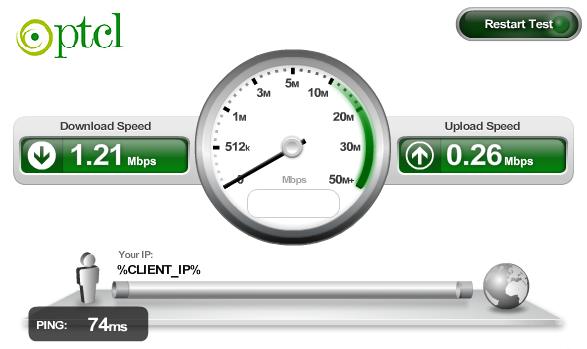Download Latest Ptcl Internet Speed Test Software