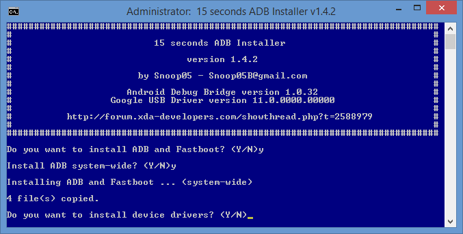 Download 15 Seconds ADB Installer For All Versions Free