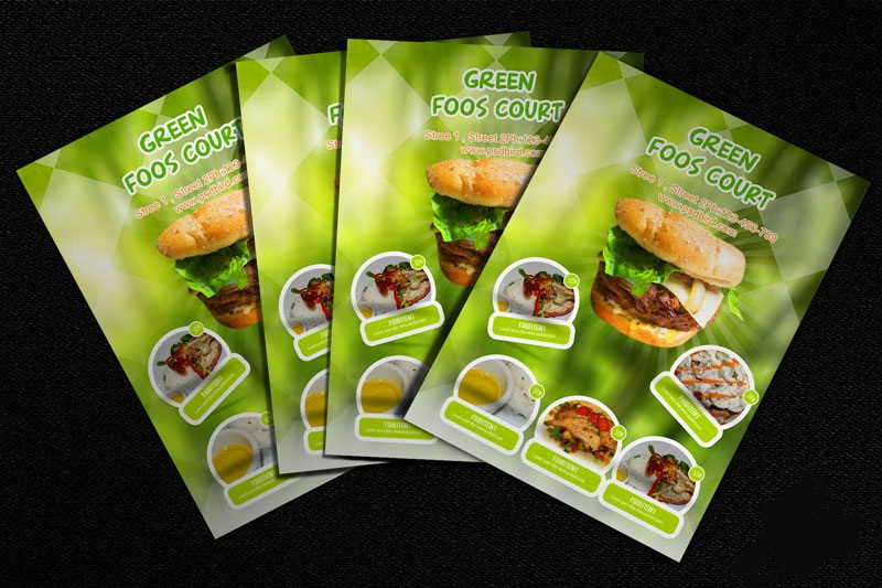 Download Food Court Flyer Templates PSD Free