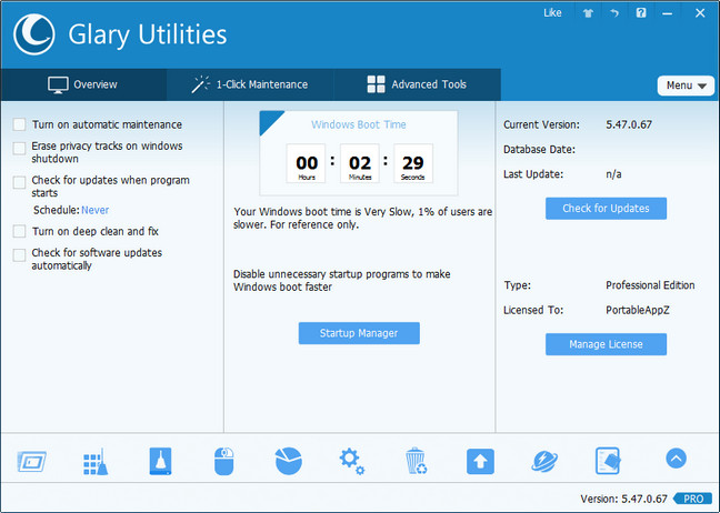 Download Glary Utilities PRO Final + Portable Software Available