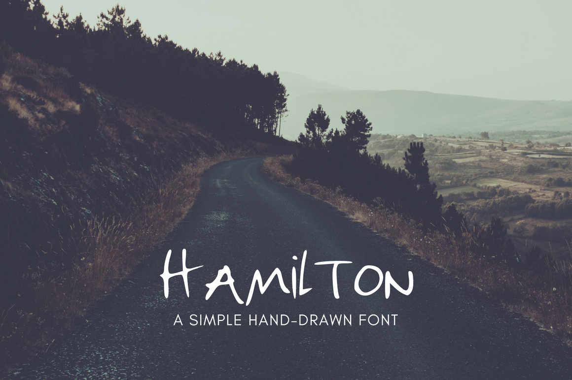 Download Hamilton Hand Drawn Font Free