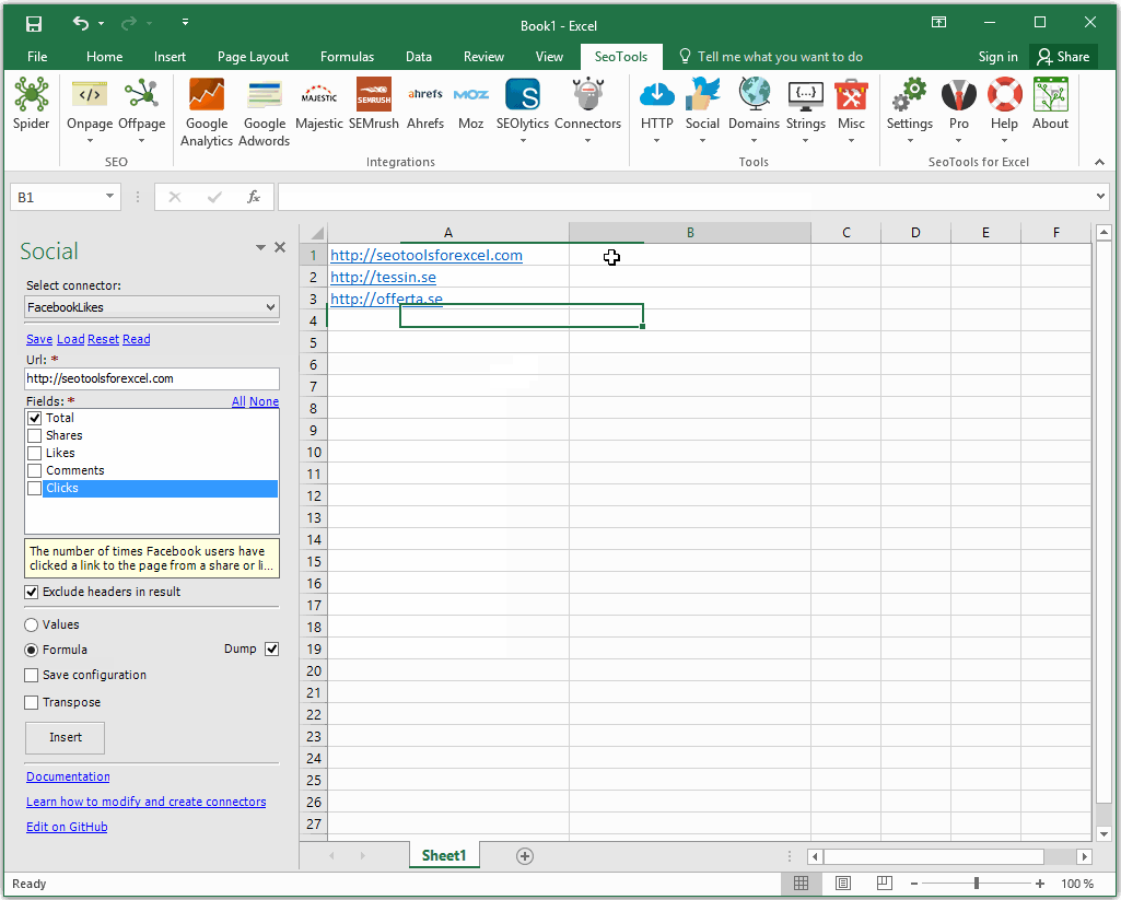 Download SEO Tools For Excel Pro Edition Free