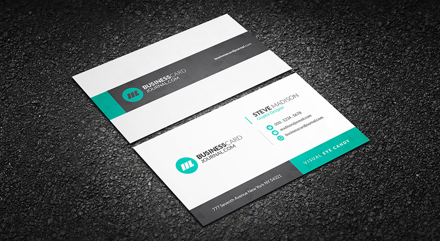 Download Subtle Geometric Corporate Business Card Template Free