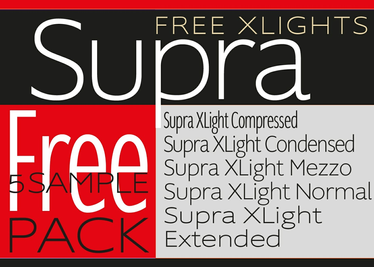 Download Supra 5 Sample Fonts Free Pack Available