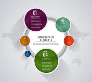 Download Infographic Template with Six Options Free
