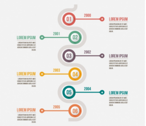 Download Minimalist Infographic with a Timeline Free