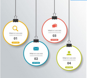 Download Four Hanging Options for Infographics Free