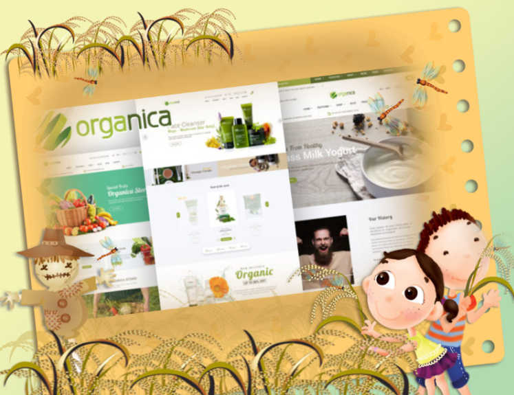 Organic Products Magento Template