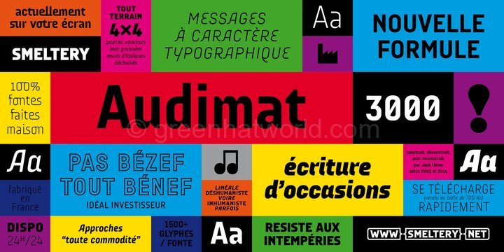 Download Audimat 3000 Fonts Free Avilable Here