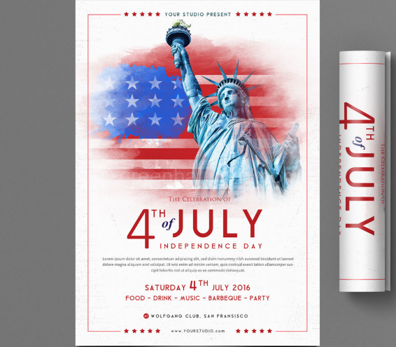 Download 4th Of July Flyer Print Template Free