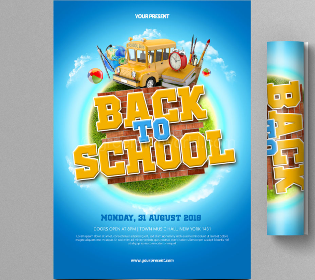 Download Back To School Flyer PSD Free