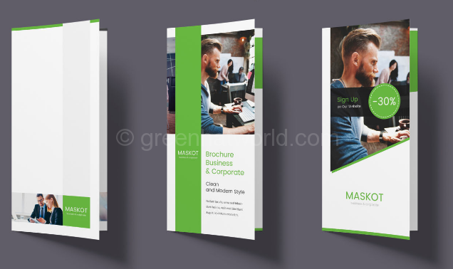 Download Business And Corporate Bi-Fold Print Template PSD Free