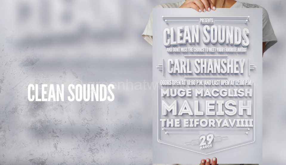 Download Clean Sounds Flyer Poster Print Templates Free