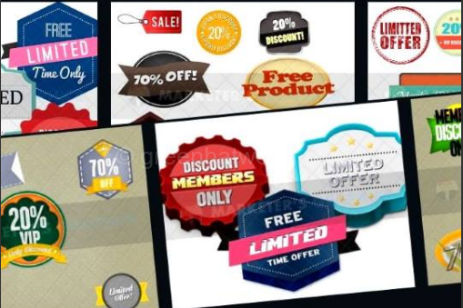 Download Discount Stickers Templates in PSD File Free