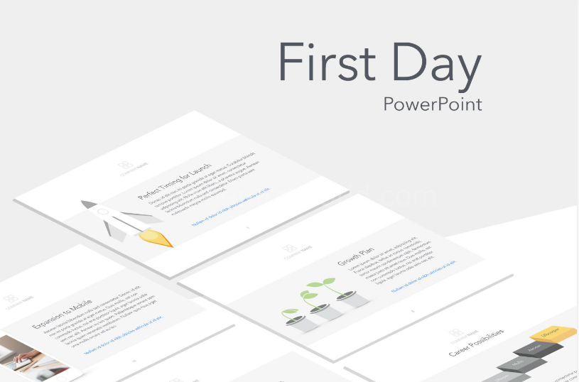 Download First Day PowerPoint Template Free