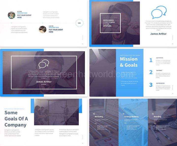 Download Forward Business Presentation Template Free