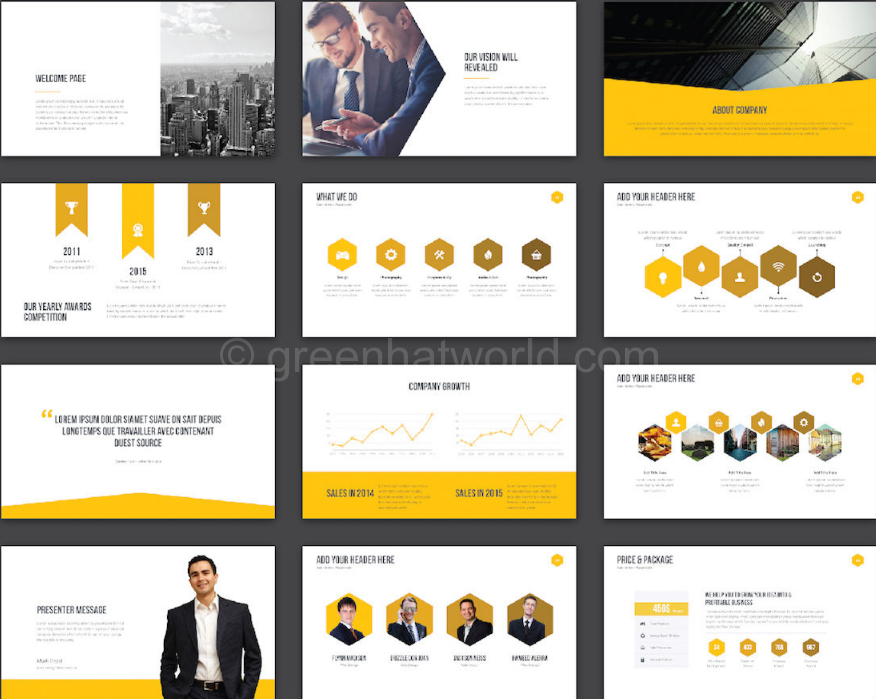 Download GHW Creative Presentation Template Free