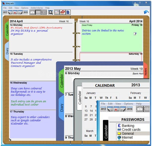 Download In My Diary Information Manager Software Free