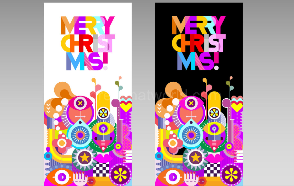 Download Merry Christmas Holiday Party Vector Invitation Free