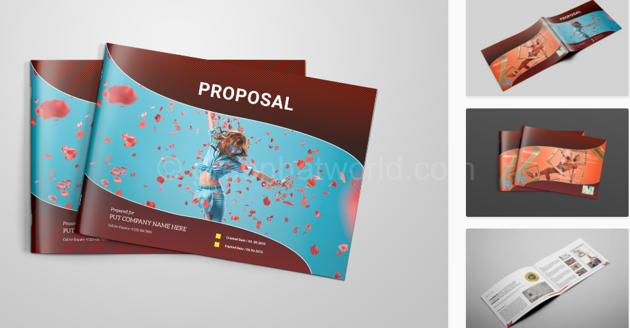 Download Service Proposal Template PSD Free