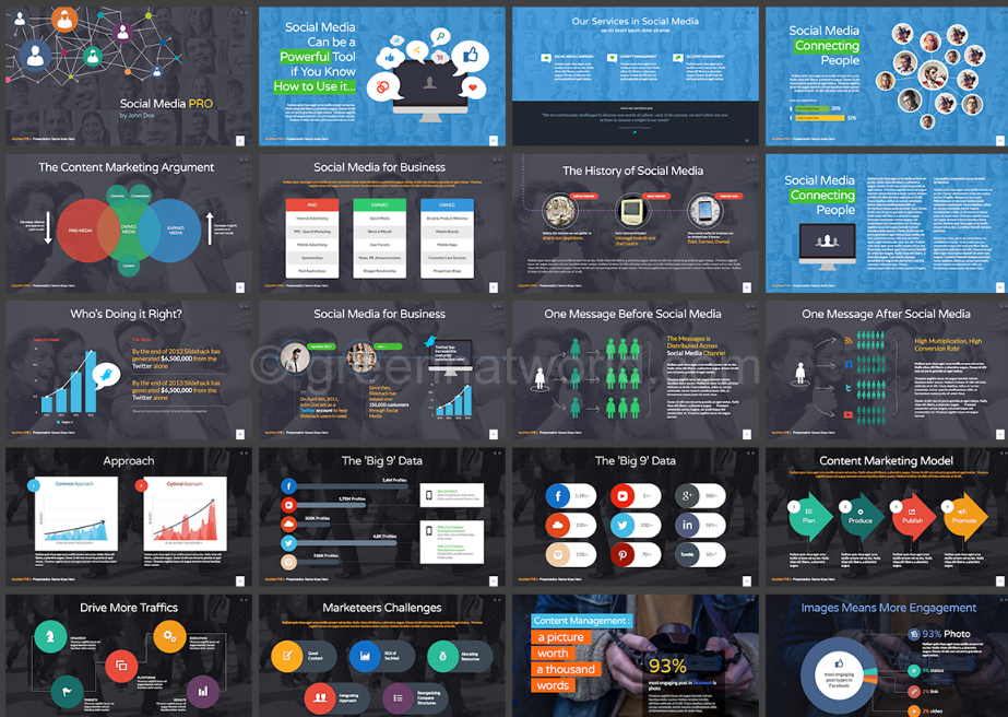 Download Social Business Presentation Template Free