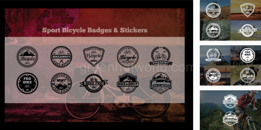 Download Sport Bicycle Logos Template Free