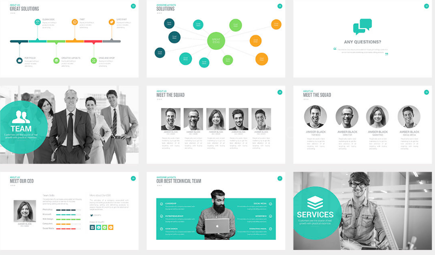 Download Target Business Presentation Template Free