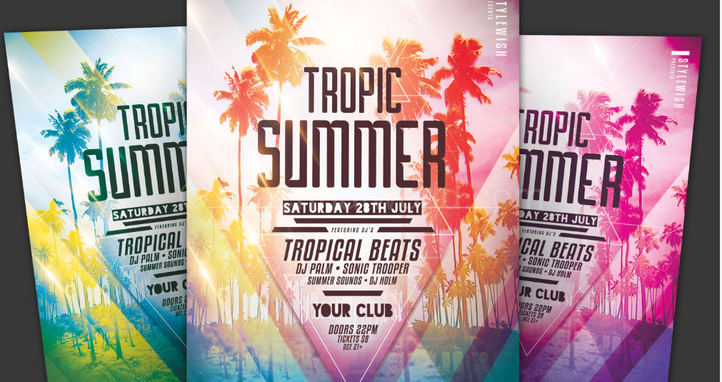 Download Tropic Summer Flyer Template PSD Free