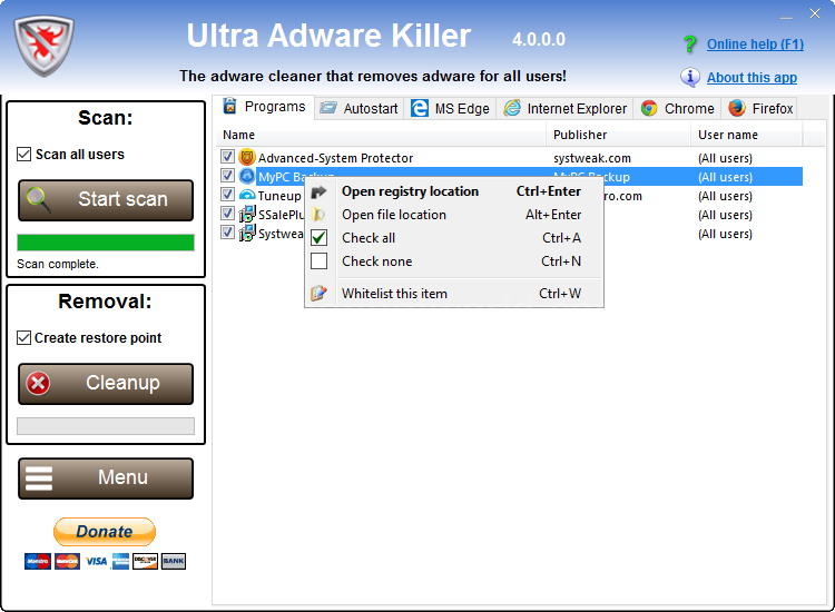Download Ultra Adware Killer For Windows Software Free