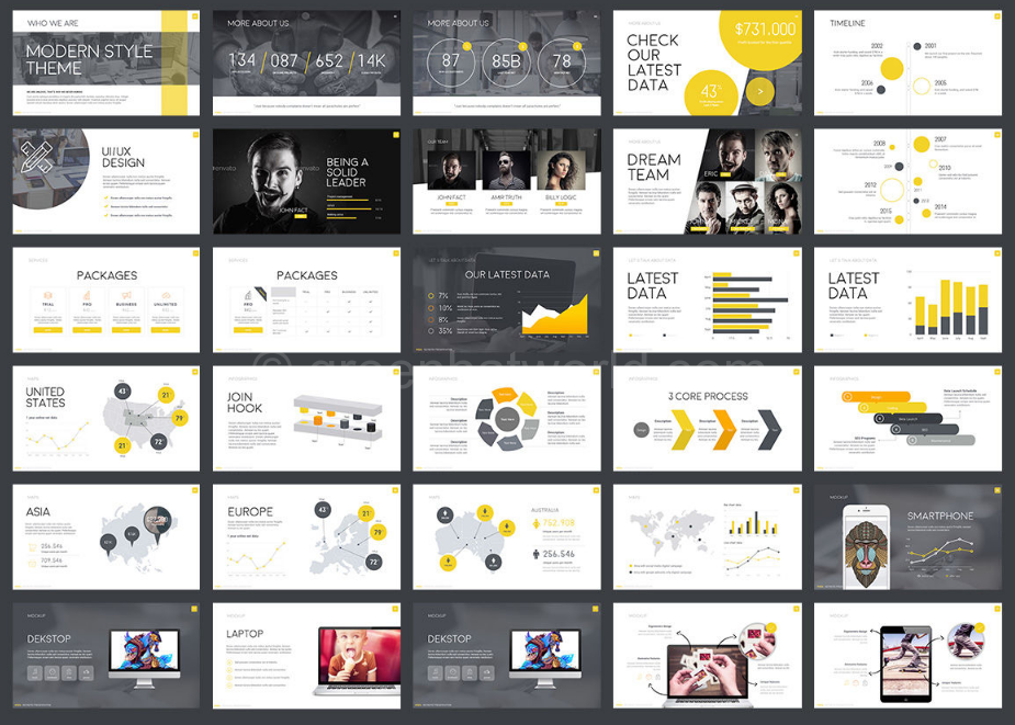 Download V Creative Presentation Template Free