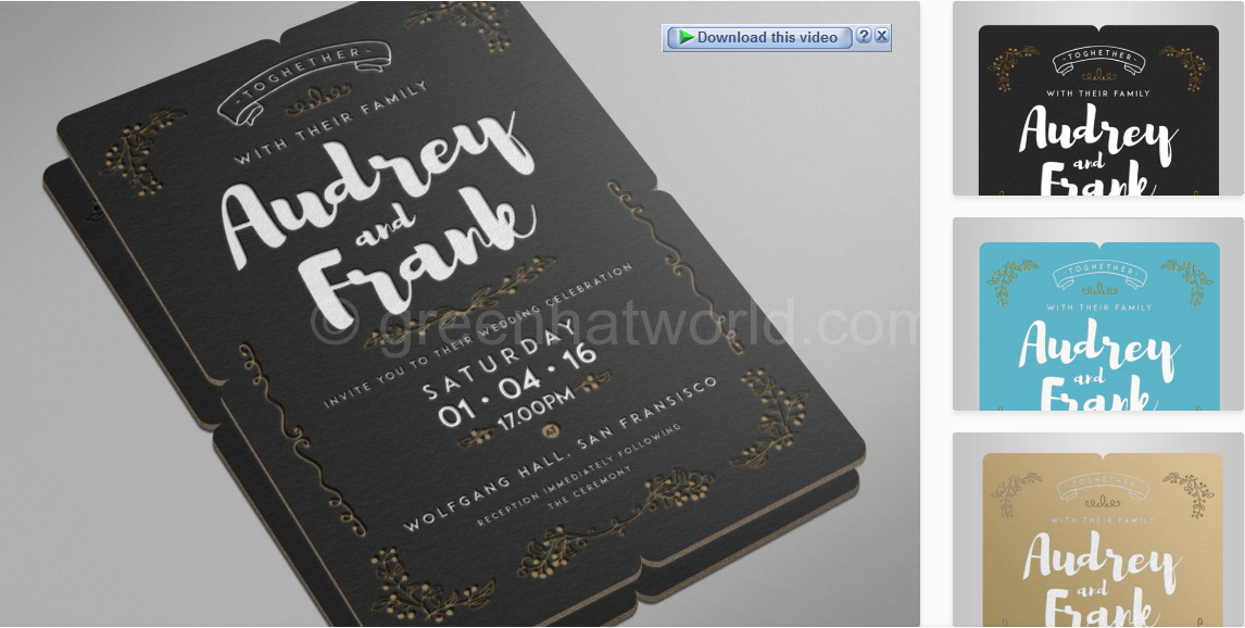 Download Vintage Wedding Invitation Template Free