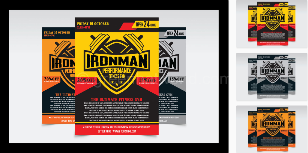 Download Fitness Gym Flyer Print Template Free