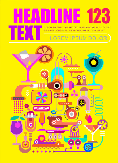 fantastic-cocktail-machine-vector-template-layout-download-free