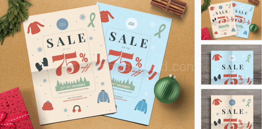 Download Winter Sale Flyer Print Template Free