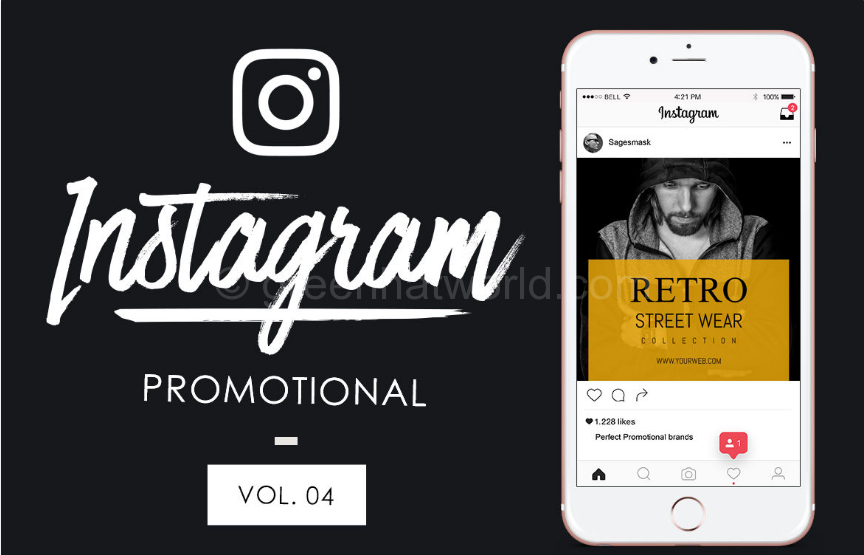 Shopping Instagram Promotional Templates PSD Free