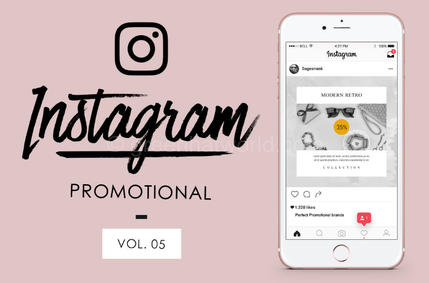 Modern Shopping Instagram Promotional PSD Free