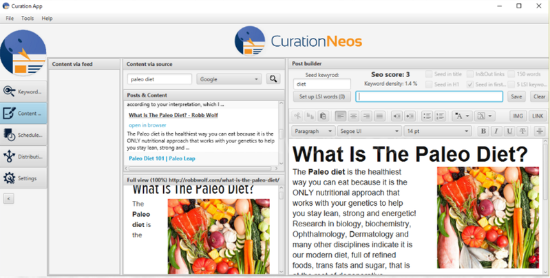 Download CurationNeos Content Creation Tool