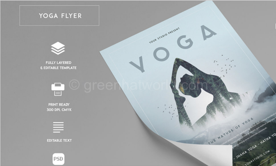 Download Yoga Flyer Template PSD Free